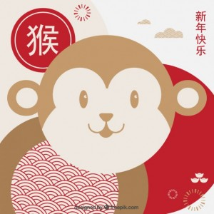 monkey-new-year-background-in-cute-style_23-2147533151